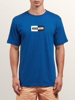 Same Difference Short Sleeve Tee In Camper Blue, Front View