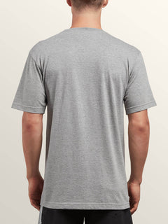 Same Difference Short Sleeve Tee In Heather Grey, Back View