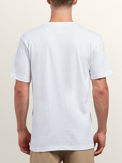 Same Difference Short Sleeve Tee In White, Back View