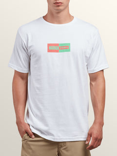 Same Difference Short Sleeve Tee In White, Front View
