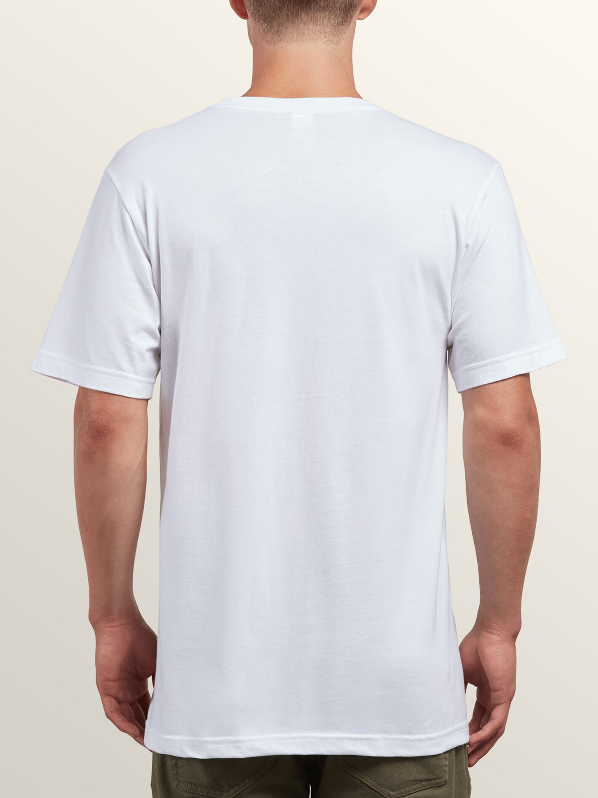 Mystico Short Sleeve Tee In White, Back View