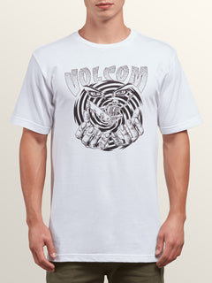 Mystico Short Sleeve Tee In White, Front View
