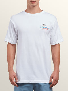 National Spirit Short Sleeve Tee In White, Front View