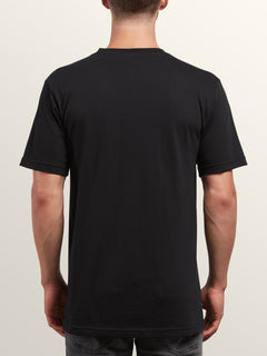 Peace Stone Short Sleeve Tee In Black, Back View
