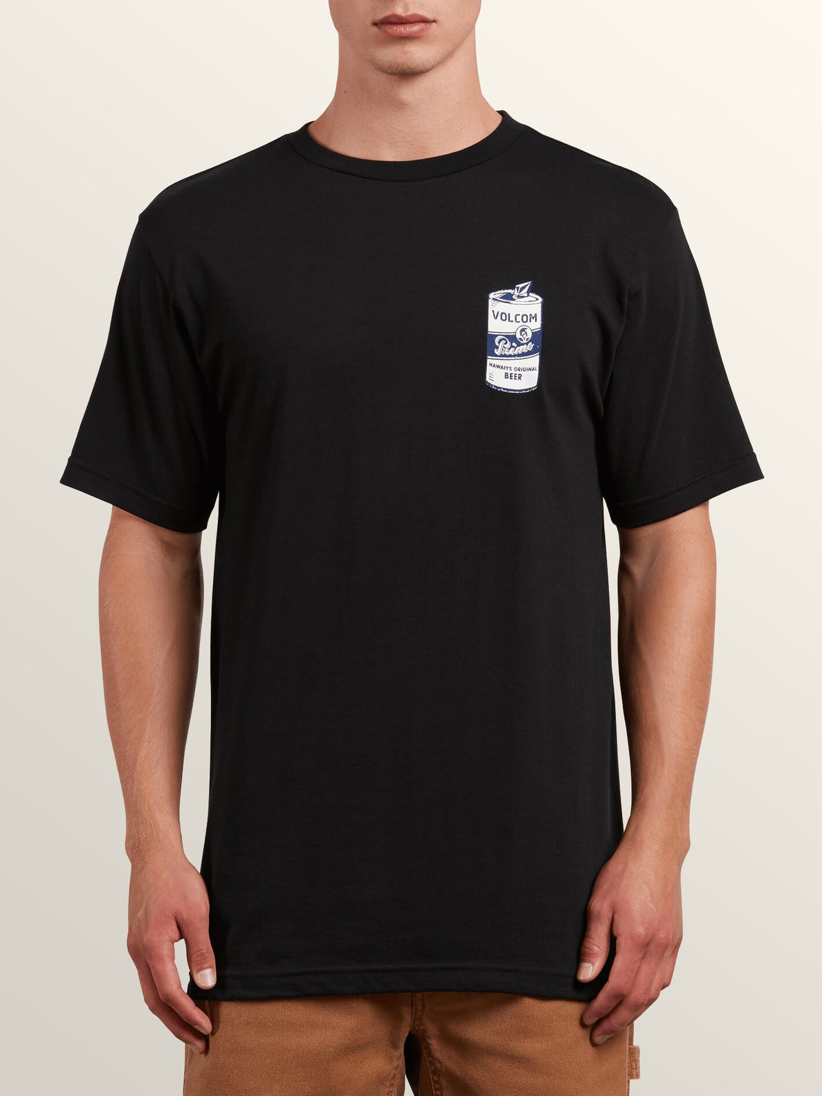 Primo Chug Short Sleeve Tee In Black, Front View