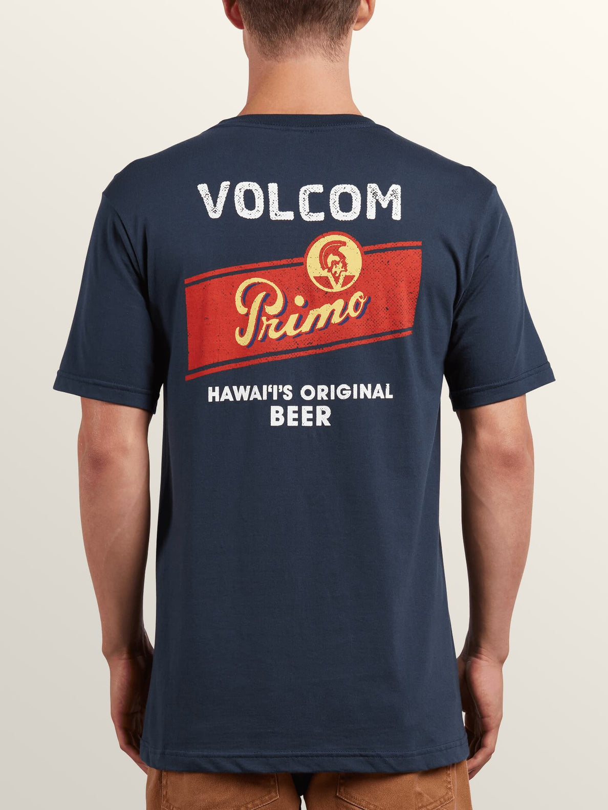 Primo Chug Short Sleeve Tee In Navy, Back View