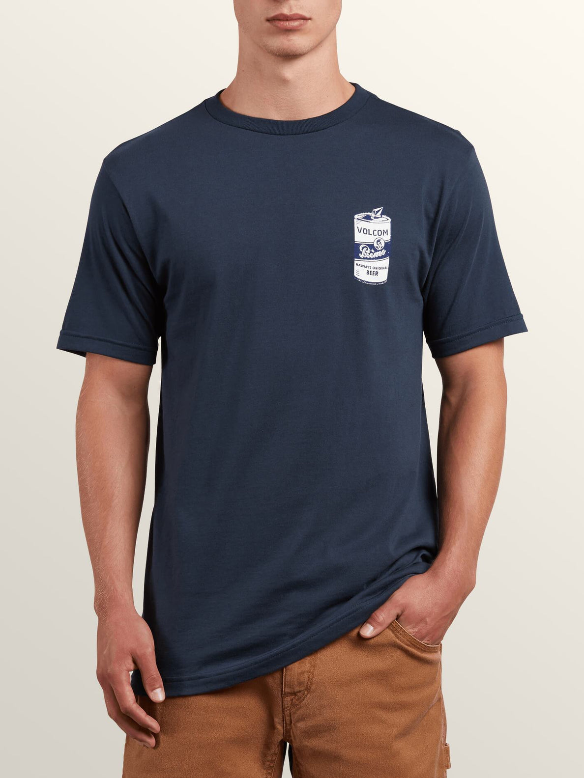 Primo Chug Short Sleeve Tee In Navy, Front View