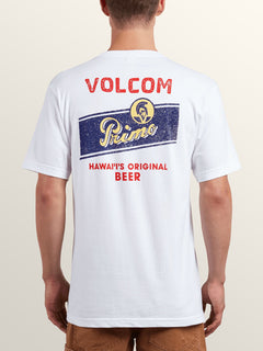 Primo Chug Short Sleeve Tee In White, Back View