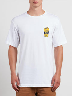 Primo Chug Short Sleeve Tee In White, Front View