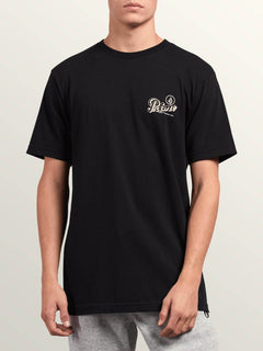 Primo Island Short Sleeve Tee In Black, Front View