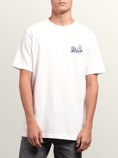 Primo Island Short Sleeve Tee In White, Front View