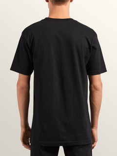 Double Short Sleeve Tee In Black, Back View