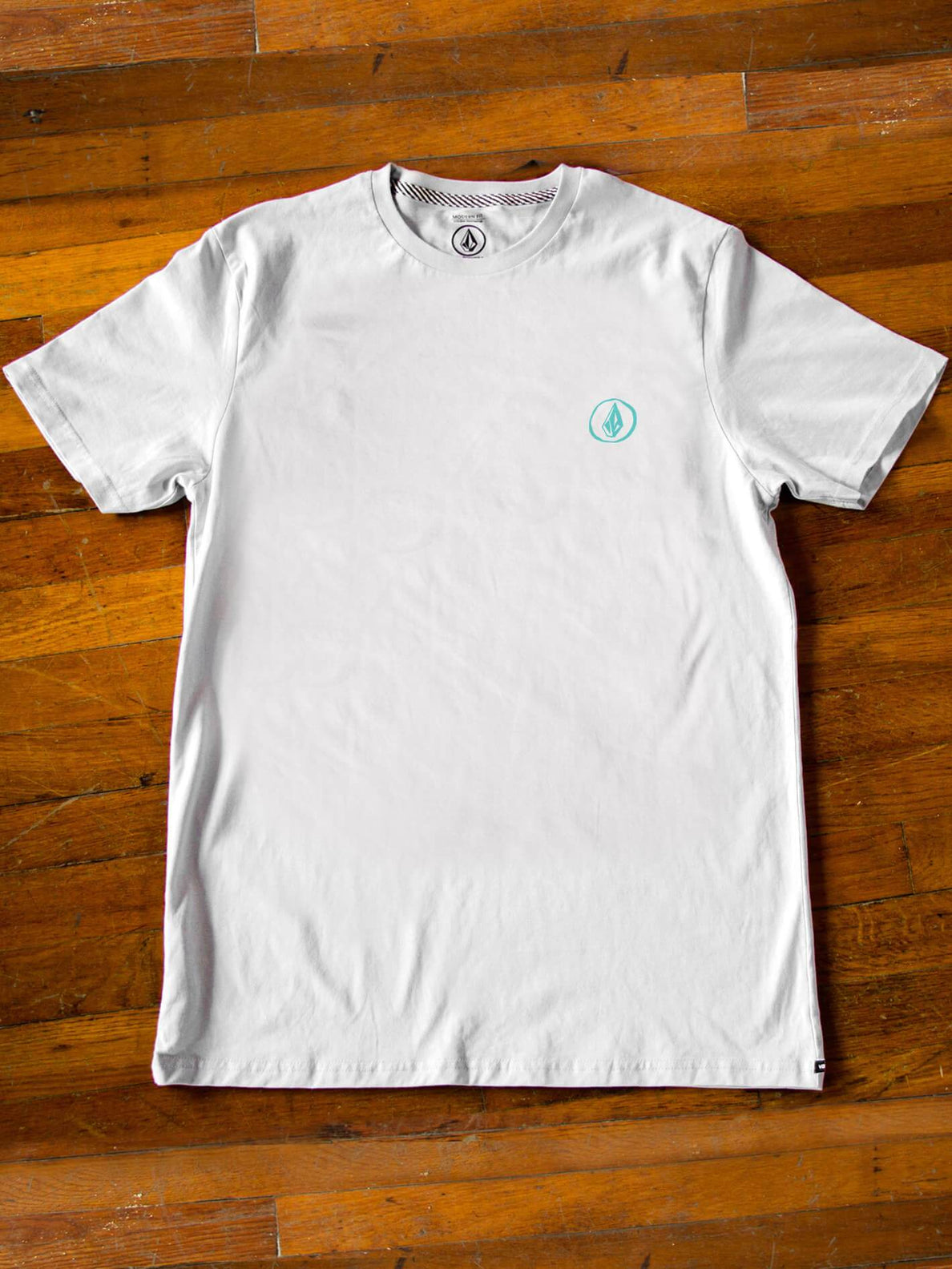 Tim Kerr Volcom Garden Artist Series Tee In White, Front View