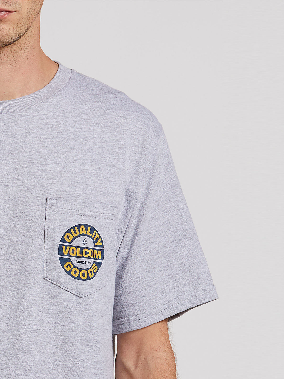 Relief Short Sleeve Pocket Tee - Heather Grey (A3522001_HGR) [1]