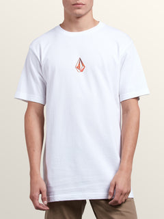 Dimensional Short Sleeve Tee In White, Front View