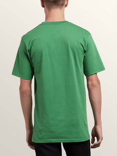 Leaner Short Sleeve Tee In Dark Kelly, Back View