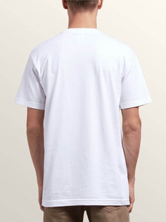 Leaner Short Sleeve Tee In White, Back View