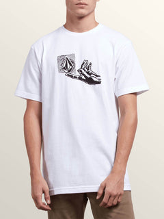 Leaner Short Sleeve Tee In White, Front View