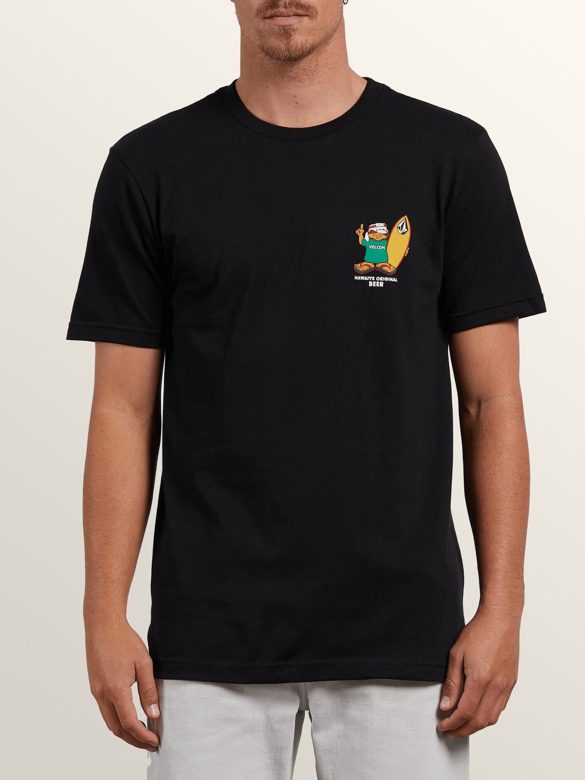 Primo Chance Short Sleeve Tee In Black, Front View