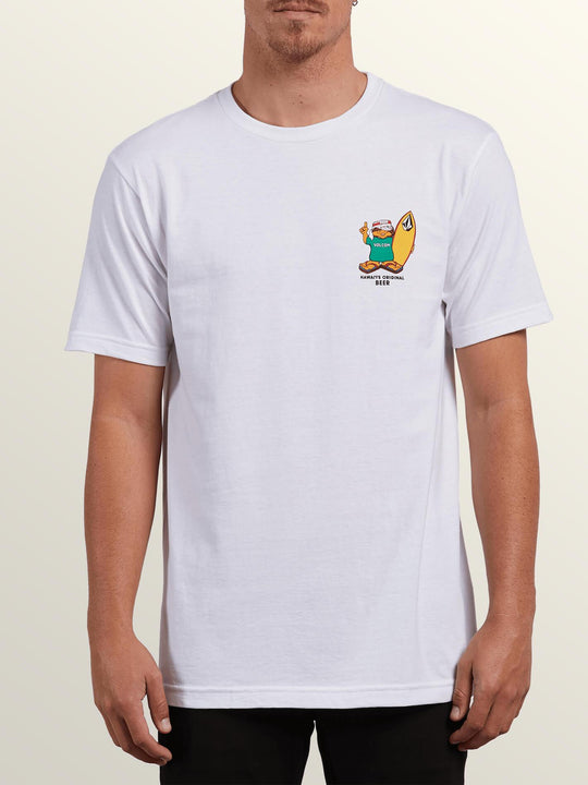 Primo Chance Short Sleeve Tee In White, Front View