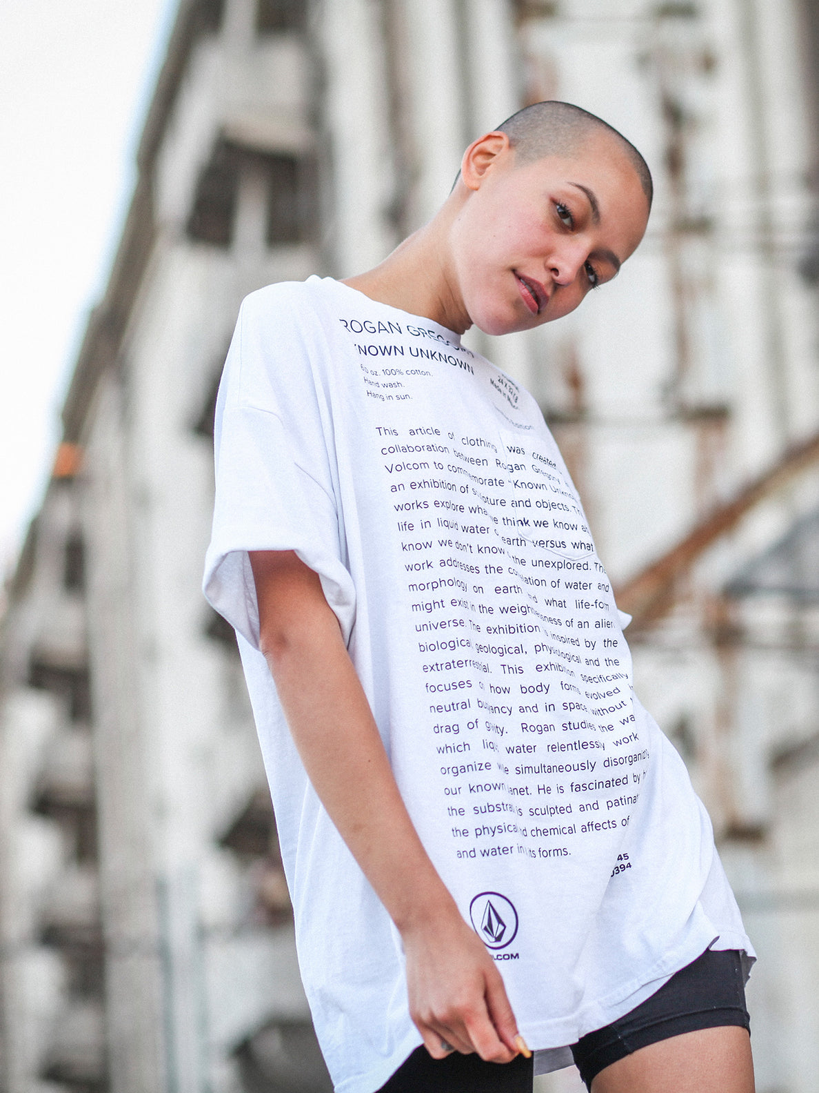Rogan Gregory X Volcom Manifesto Tee In Vintage White, Seventh Alternate View