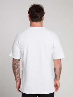 Rogan Gregory X Volcom Manifesto Tee In Vintage White, Back View