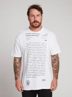 Rogan Gregory X Volcom Manifesto Tee In Vintage White, Front View