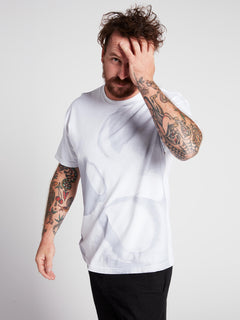 Rogan Gregory X Volcom Ovo-repository Tee In Vintage White, Third Alternate View
