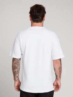 Rogan Gregory X Volcom Ovo-repository Tee In Vintage White, Back View