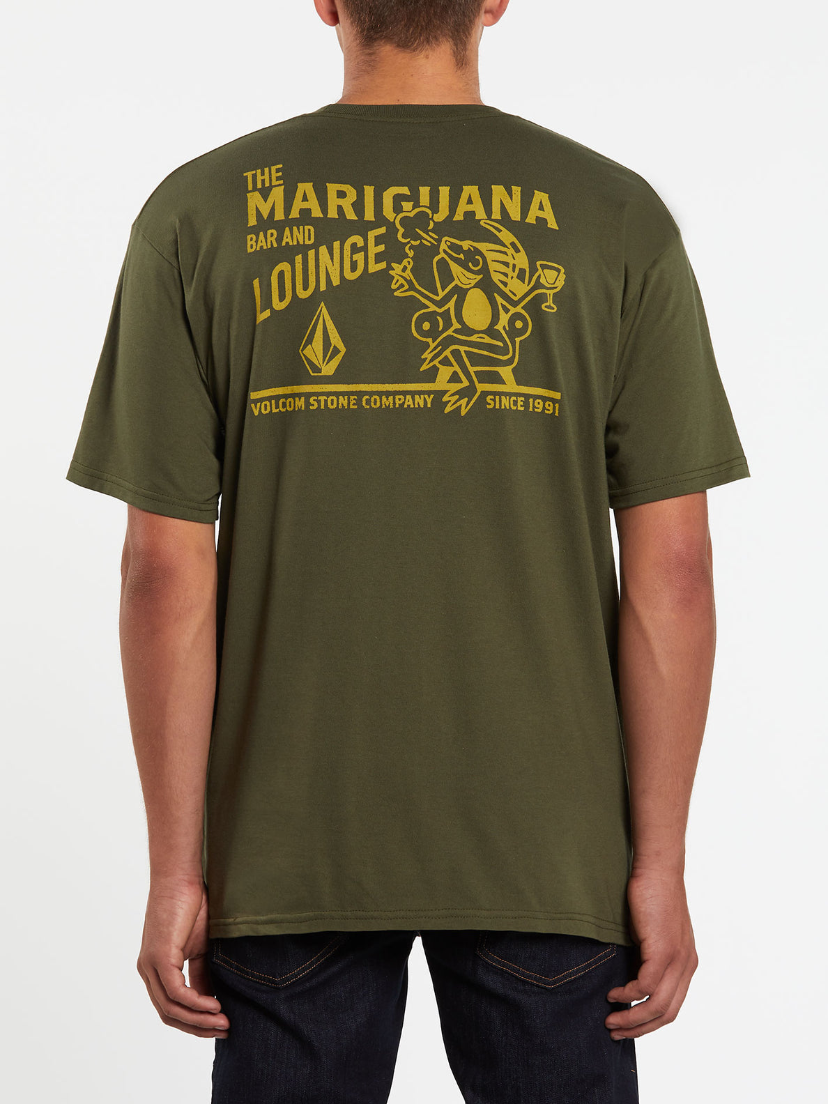 Mariguana Short Sleeve Tee - Military (A3532005_MIL) [B]
