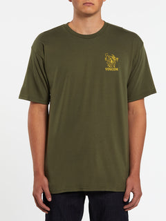 Mariguana Short Sleeve Tee - Military (A3532005_MIL) [F]
