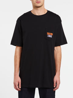 Surprise Short Sleeve Pocket Tee - Black (A3532006_BLK) [F]