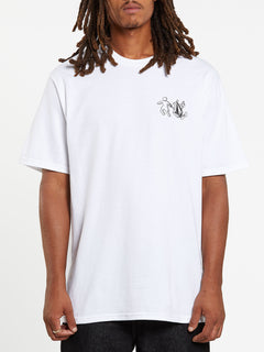 Stonely Short Sleeve Tee - White (A3532008_WHT) [F]