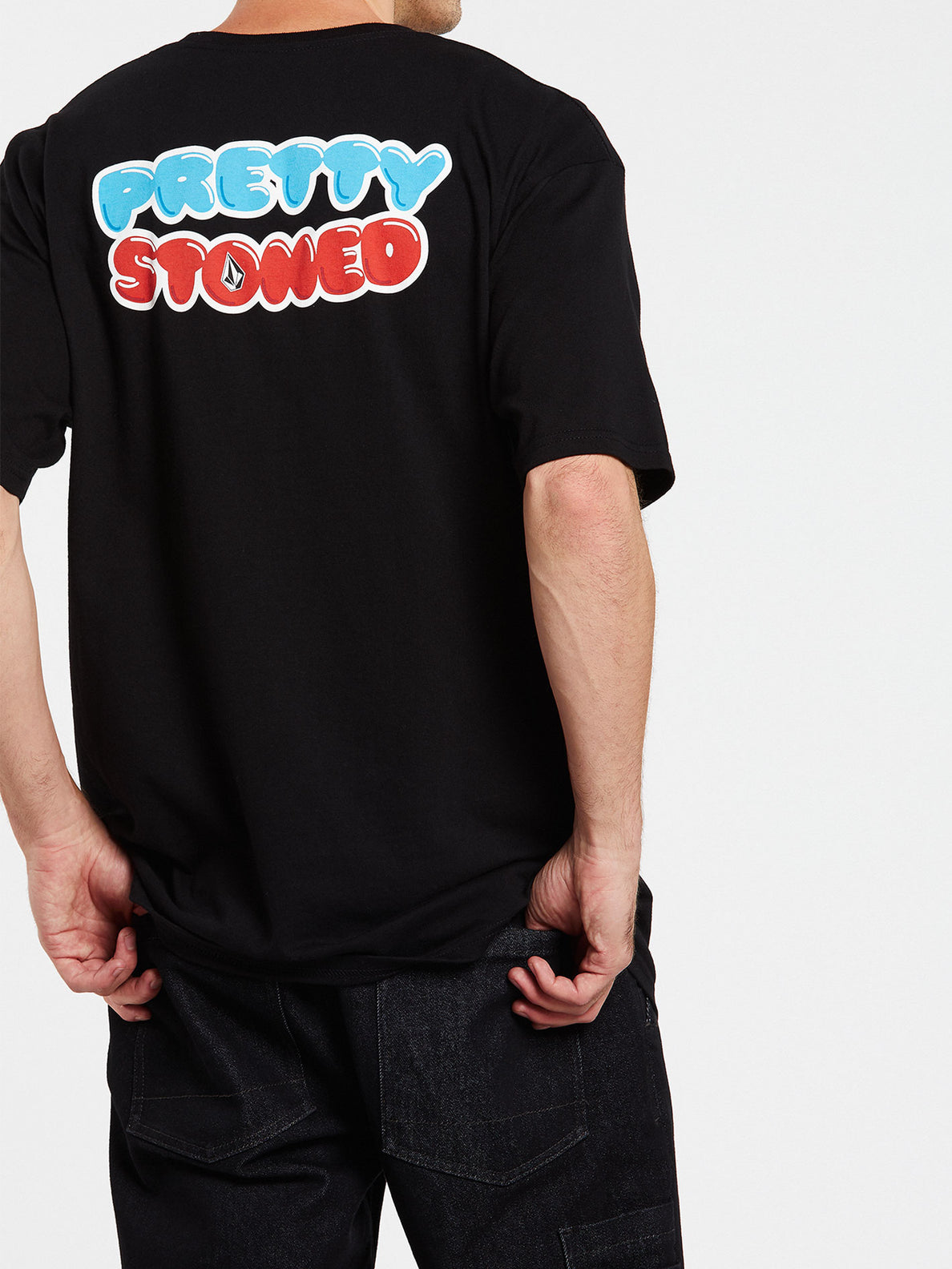 Pretty Stoned Short Sleeve Tee - Black (A3532009_BLK) [05]