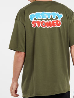 Pretty Stoned Short Sleeve Tee - Military (A3532009_MIL) [31]