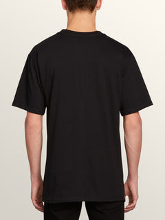 Stonecore 94 Short Sleeve Pocket Tee In Black, Back View