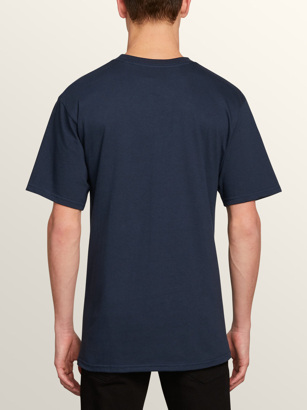 Stonecore 94 Short Sleeve Pocket Tee In Navy, Back View