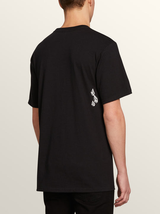 Stone Spew Short Sleeve Tee In Black, Back View