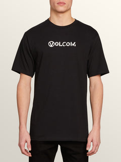 Stone Spew Short Sleeve Tee In Black, Front View