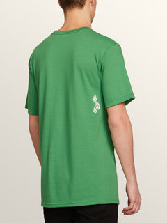 Stone Spew Short Sleeve Tee In Dark Kelly, Back View