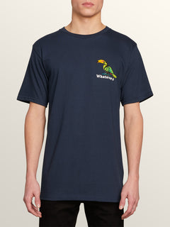 Bad Bird Short Sleeve Tee In Navy, Front View