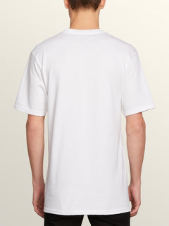 Bad Bird Short Sleeve Tee In White, Back View