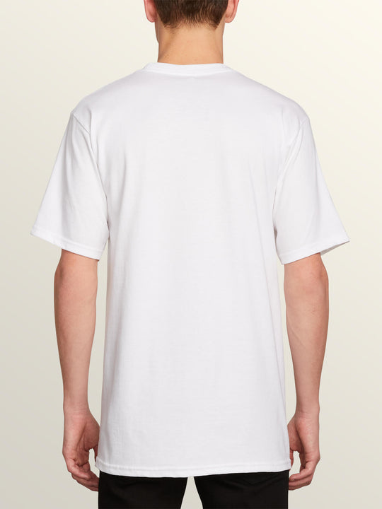 Sad Seeds Short Sleeve Tee In White, Back View