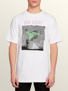 Sad Seeds Short Sleeve Tee In White, Front View
