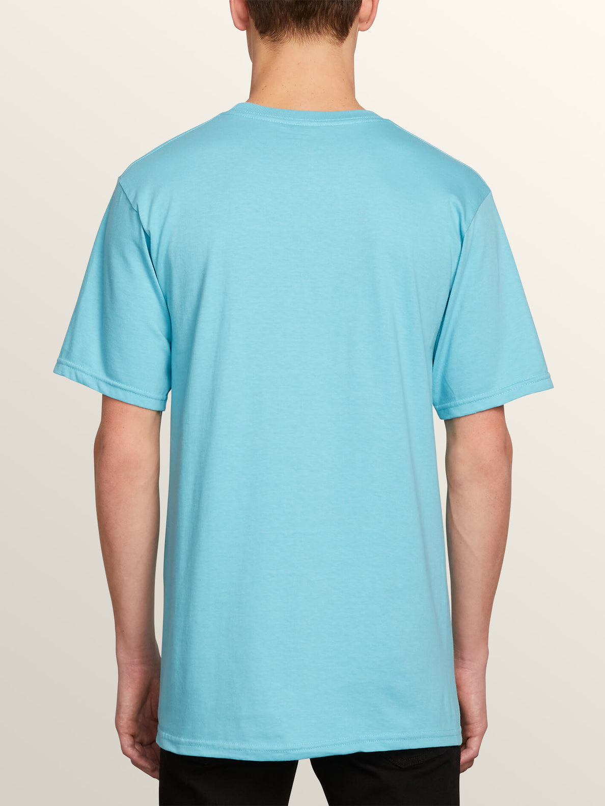 Speak To You Short Sleeve Tee In Blue Bird, Back View