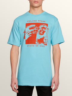 Speak To You Short Sleeve Tee In Blue Bird, Front View