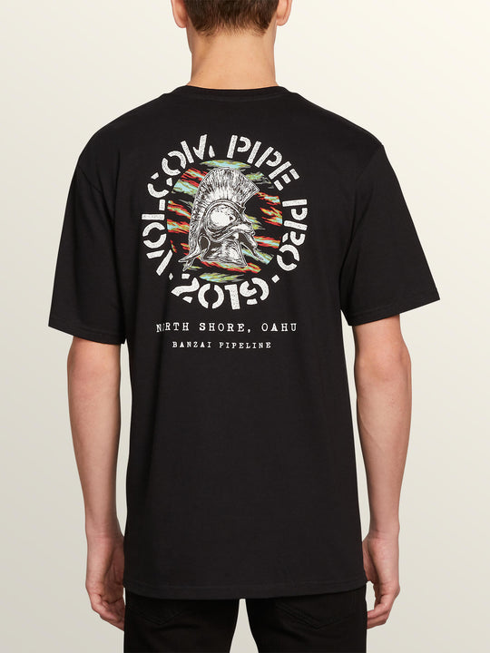 Vpp Crest Short Sleeve Tee In Black, Back View