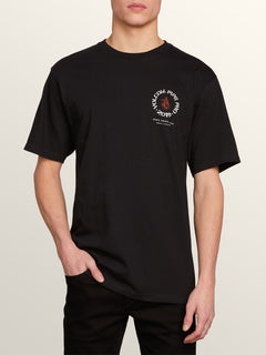 Vpp Crest Short Sleeve Tee In Black, Front View