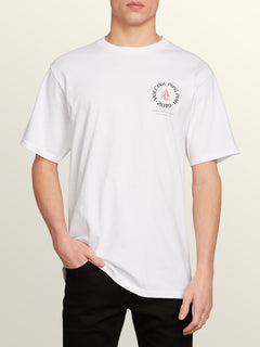 Vpp Crest Short Sleeve Tee In White, Front View