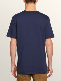 Post It Cali Short Sleeve Tee In Navy, Back View